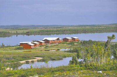 The Lodge at Little Duck, where Safari Club is offering a caribou-hunt prize valued at almost $15,000.