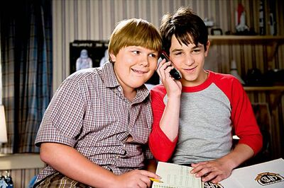 Robert Capron, left, and Zachary Gordon in  Diary of a Wimpy Kid: Dog Days.