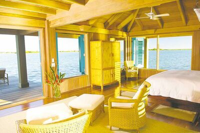 The Cayo Espanto is one of the region's most elite and private resorts, catering to only 16 guests at a time.