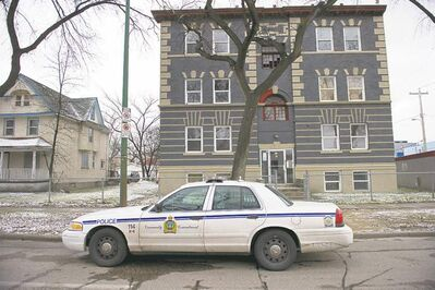 A man is said to have been fatally stabbed at this apartment block on Sherbrook Street early Friday evening.