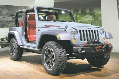 Chrysler unveiled the new 10th anniversary Jeep Wrangler Rubicon at the LA show.