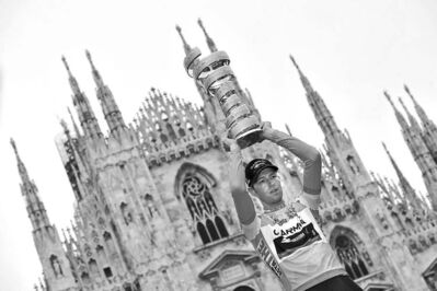 Daniele Badolato / the associated press archivesCanada�s Ryder Hesjedal became only the second non-European to win the Giro d�Italia in May, 2012. He celebrated in Rome.