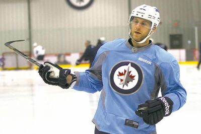 Derek Meech played with distinction in his first home game for the Jets on Tuesday.