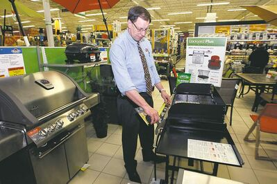 Rob Petkau, general manager of the Regent Avenue Canadian Tire outlet, says the store hired extra workers for the usual spring rush. But the rush has yet to materialize.