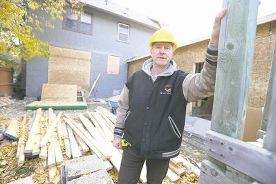 Oswald Construction owner Ralph Oswald at the site of a home renovation in River Heights.