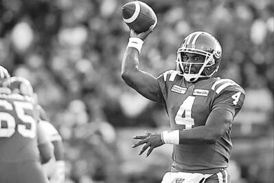 Liam Richards / the canadian press archivesSSLqYou can�t let the emotions get the best of you. You have to realize that it�s going to take a full 60 minutes of fundamental football to get the job done�SEmD Riders QB Darian Durant