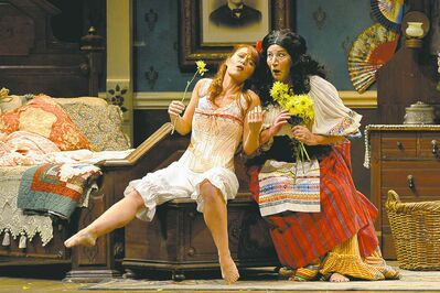 Nikki Einfeld and Donnalynn Grills in Manitoba Opera's Don Pasquale.