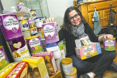 Mom Susan Krepart heard Winnipeg Harvest needed baby formula, so she went on Facebook and asked her friends to give donations.