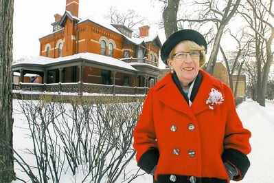 Longtime Dalnavert Museum volunteer Mary Steinhoff has many fond Christmas memories of the mansion.