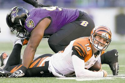 Patrick Semansky / the associated press filesThe last time the Ravens and Bengals met in 2012, Cinci QB Andy Dalton (14) played only a half in a meaningless game. Today will be different.