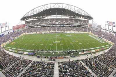 John Woods / the canadian press filesThe city�s new football stadium, Investors Group Field in Fort Garry, opened a year late at a cost of almost $204 million.
