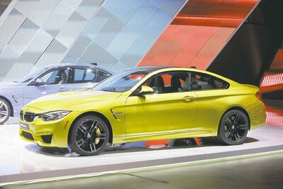 The BMW M4 coupe.