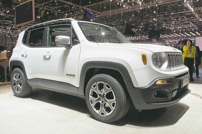 The new Jeep Renegade, on display at the Geneva International Motor Show, will have 16 engine and transmission configurations.