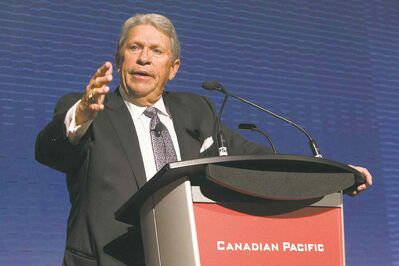 Chris Young / The Canadian Press filesCP CEO Hunter Harrison was praised for reducing the railway�s capacity by 450 locomotives and at least 10,000 railcars.