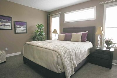 The master bedroom is a secluded space.