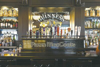 The interior of a Fionn MacCool's outlet.