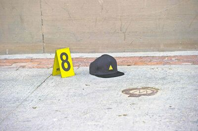 A cap found at the scene.