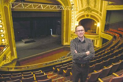 Photos by Crystal Schick / Winnipeg Free Press Kevin Donnelly, senior vice-president of venues and entertainment at True North Sports and Entertainment, on the second level of the Burton Cummings Theatre.