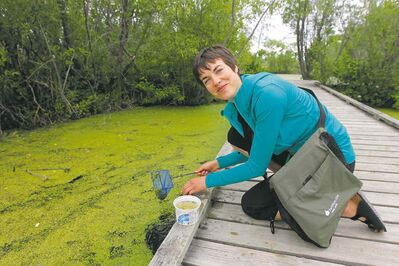 "One of the biggest benefits to Katrina Froese's job at FortWhyte Alive is the ability to work outdoors year-round: ""In terms of what I like about my job, it is really the diversity of things I get to do, from snowshoeing with school groups in the winter and go hunting for butterflies and marsh insects with families in the summer."""