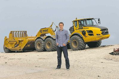Shane Kroeker of K-Tec Earthmovers says interest in the firm's scrapers is coming from across the globe.