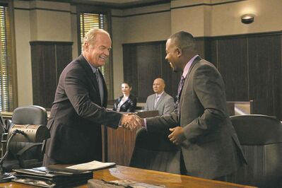BYRON COHEN / FXThe odd (and unfunny) couple: Kelsey Grammer as Allen Braddock and Martin Lawrence as Marcus Jackson in Partners.
