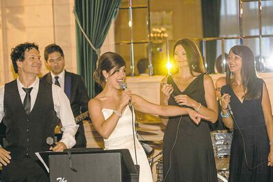 Jill Parsonage was a lovely bride � and great wedding singer, too.