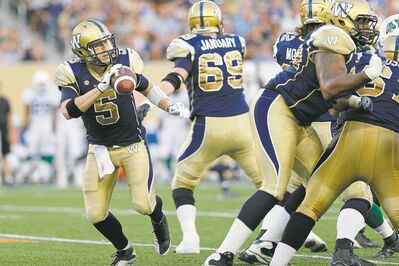 Winnipeg Blue Bombers quarterback Drew Willy is one of the things that has gone right so far in the 2014 CFL season. He has led three late comeback victories.
