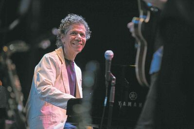 Pianist Chick Corea dedicated his Sept. 23 performance to John Coltrane.
