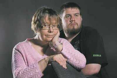 Val Surbey and her son Ryan, who has FASD but is enrolled in university and works at a part-time job.