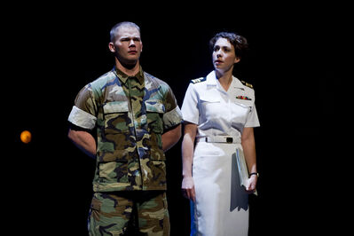 Cole Humeny and Lora Brovold in A Few Good Men.