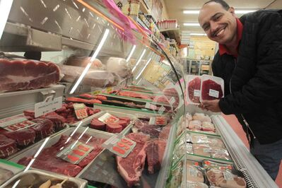 Food Fare's Munther Zeid says if wholesale beef prices keep rising, he will have to pass on the increases to customers.
