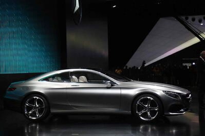 The Mercedes-Benz Concept S-Class Coupe debuts during the 2014 North American International Auto Show in Detroit.