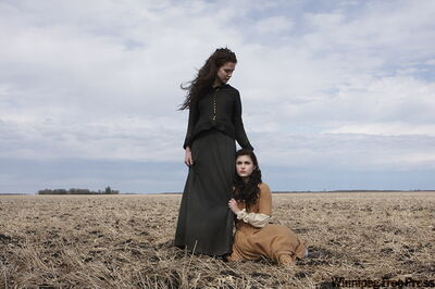 Sara Canning (left) and Winnipeg actress Ferron Guerreiro in the gothic prairie drama Black Field, a feature debut by local filmmaker Danishka Esterhazy.
