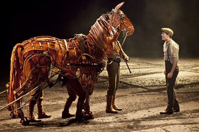 "A scene from the theatre production of ""War Horse"" is shown in a handout photo. THE CANADIAN PRESS/HO-Mirvish Productions/Brinkhoff /M�genburg"