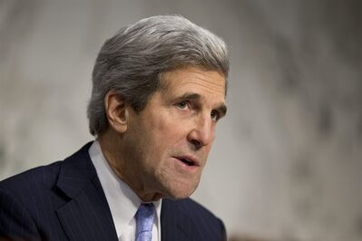 Senate Foreign Relations Chairman John Kerry, D-Mass., leads a hearing on the attack on the U.S. consulate in Benghazi, Libya, where the ambassador three other Americans were killed Sept. 11, on Capitol Hill in Washington, Thursday, Dec. 20, 2012. (AP Photo/J. Scott Applewhite)