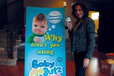Majda Ficko's Baby Butz cream, which is manufactured in Winnipeg, is quickly becoming available nationwide.
