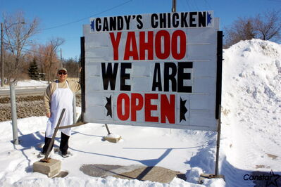 Candy's Chicken owner Kim Boyce was thrilled to change the sign outside his North Kildonan restaurant from a message advertising the Henderson Highway location would be opening soon.