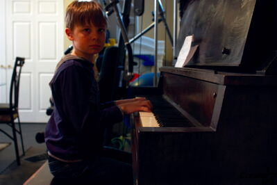 Joshua Close, a former North Kildonan resident and student of Glenelm music teacher Terri Myers, recently took second place in his age group in the Music for Young Children International Composition Festival.
