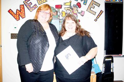 RETSD early learning team members Kim Campbell and Kelly Martino are shown.