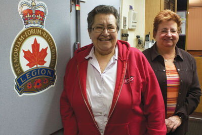 Transcona Legion Branch #7 car rally organizer Jeanne Rudniski and branch secretary Linda Page, a past participant, are shown at the branch.