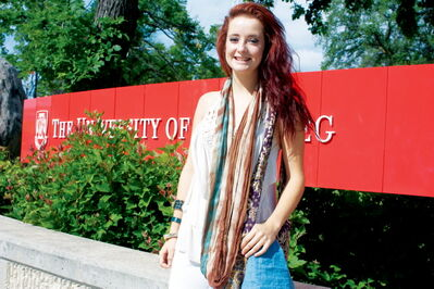 University of Winnipeg theatre student Victoria Hill recently appeared in two episodes of the NBC show Siberia, which was shot in Birds Hill Park.