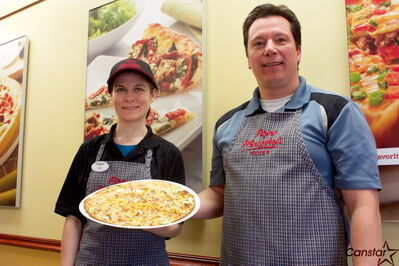 Papa Murphy's owners Lisa and Doug Sanders are shown at the location at Regent Avenue West.