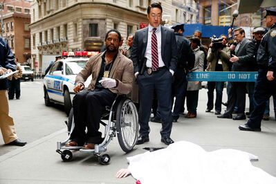 Blair Underwood, left, and Kenneth Choi in Ironside, NBC's decidedly mediocre reinvention of the popular '70s show.