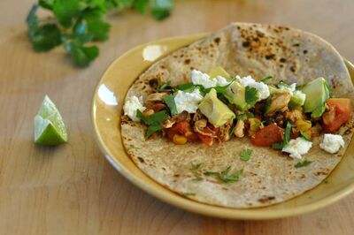 Chicken tinga. While some tortillas are occasionally rolled and fried, nowhere in Mexico will you find the curiously orange, seasoned ground beef that used to pass for taco filling north of the U.S. border.