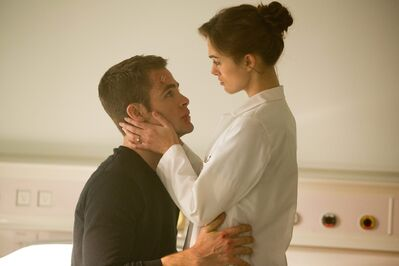 "Keira Knightley, right, and Chris Pine in ""Jack Ryan: Shadow Recruit,"" an action thriller about a covert CIA analyst who uncovers a Russian plot to crash the U.S. economy with a terrorist attack."