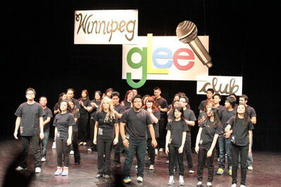 The Winnipeg Glee Club performing at the Prairie Theatre Exchange.