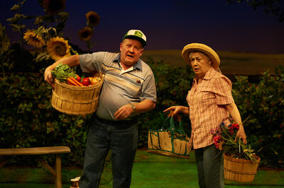A true story about marijuana grow-op yields an old-fashioned love story. Tom Anniko and Megan McArton play a total of 12 characters between them in Harvest.