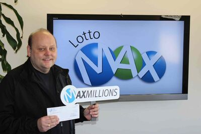 Mike Herda is the lucky holder of a $1-million ticket from a Lotto Max Maxmillions draw on Mar. 14.