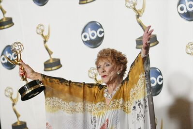 In this June 2008 file photo, Jeanne Cooper poses with her award for outstanding lead actress in a drama series for her work on The Young and the Restless at the 35th Annual Daytime Emmy Awards in Los Angeles. The show will broadcast a tribute to Cooper, who played Katherine Chancellor since 1973 and died earlier this week, on May 28.
