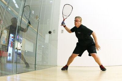 Jennifer Sanders of Winnipeg lost in the final of the world racquetball championship on Tuesday.